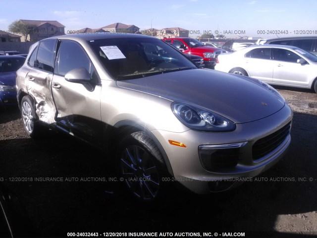 Salvage Car Porsche Cayenne 2016 Gold For Sale In Phoenix Az Online