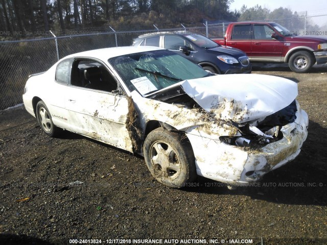 Salvage Car Chevrolet Monte Carlo 2000 White for sale in
