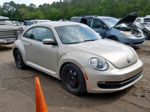 Salvage Car Volkswagen Beetle 2012 Gold for sale in