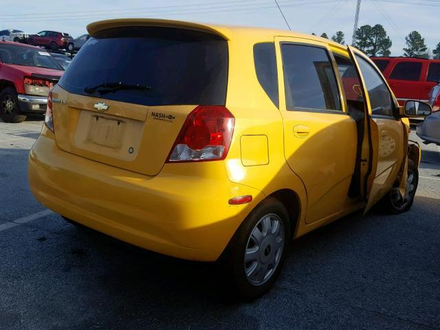 Salvage Car Chevrolet Aveo 2004 Yellow For Sale In Loganville Ga