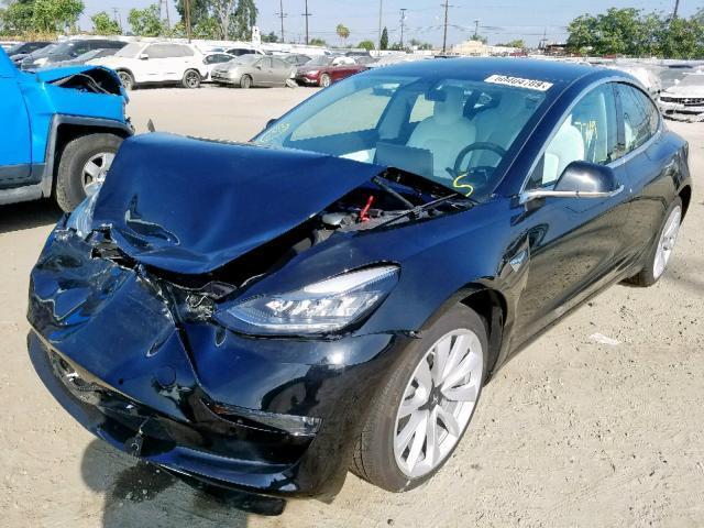 Salvage Car Tesla Model 3 2019 Black for sale in LOS ...
