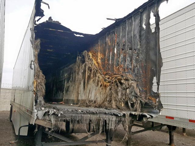 Salvage Industrial Great Dane Trailer 2019 White for sale in