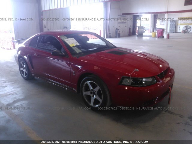 Salvage Car Ford Mustang 1999 Red for sale in Houston TX online