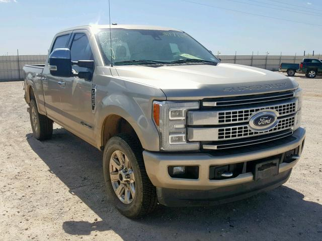 2017 Ford F 250 Platinum For Sale >> Salvage Car Ford F 250 2017 Beige For Sale In Andrews Tx
