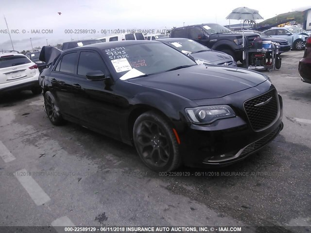 Chrysler 300s For Sale >> Salvage Car Chrysler 300s 2016 Black For Sale In Pembroke
