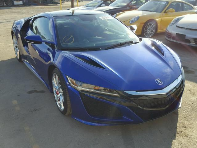 Salvage Car For Sale >> Salvage Car Acura Nsx 2017 Blue For Sale In Los Angeles Ca Online