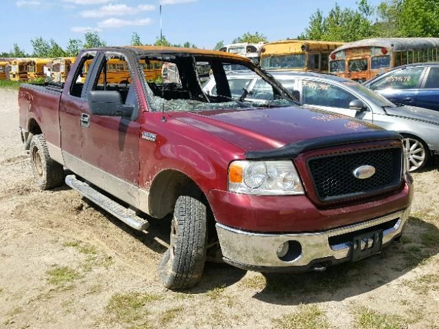 Salvage Car Ford F150 2006 Burgundy For Sale In Lyman Me