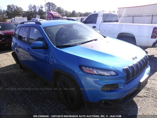 Salvage Car Jeep Cherokee 2018 Blue For Sale In Longview Tx Online