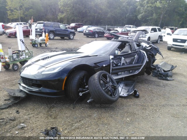 Salvage Car Chevrolet Corvette 2016 Black for sale in