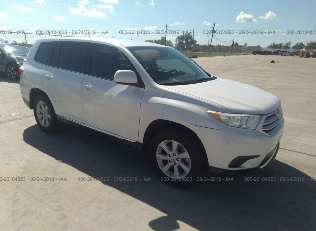 2013 Toyota Highlander For Sale >> Salvage Car Toyota Highlander 2013 White For Sale In Houston