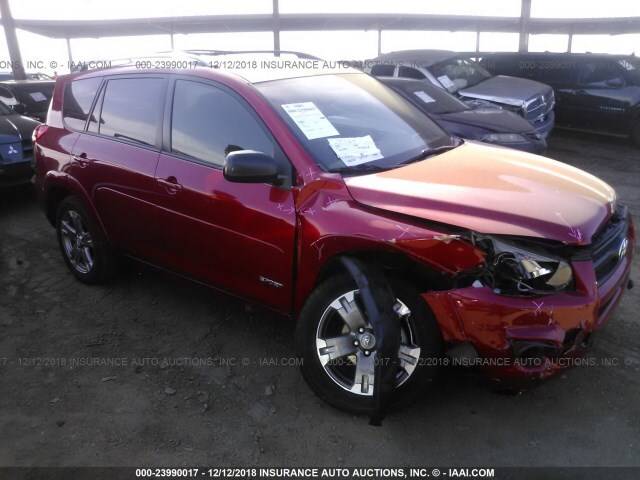 Salvage Car Toyota Rav4 2012 Red For Sale In Phoenix Az Online