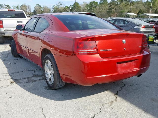Salvage Car Dodge Charger 2007 Red for sale in SAVANNAH GA