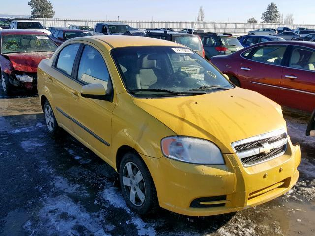 Salvage Car Chevrolet Aveo Ls 2010 Yellow For Sale In Airway Heights